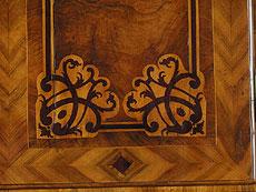 Detail images: Barocker Aufsatzsekretär