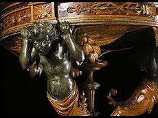 Detail images: Jardinière des Mailänder Ebenisten und Sculpteurs Ferdinando Pogliani, 1832-1899