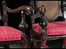 Detail images: Satz von 6 Lehnstühlen und 2 Armlehnsesseln in italienischen Hochbarockstil