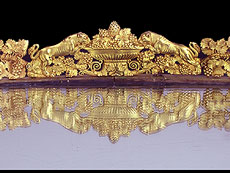 Detail images: Großes höfisches Tafelaufsatztablett in feuervergoldeter Bronze der Zeit Napoleons