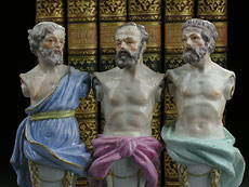 Detail images: Satz von drei Meissener Büsten griechischer Gelehrter