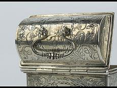 Detail images: Holländisches silbernes Hochzeitskästchen