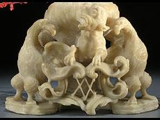 Detail images: Barockes Kunstkammerobjekt mit Korallenbaum
