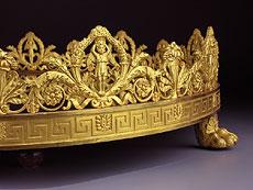 Detail images: Großer Empire-Tafelaufsatz in vergoldeter Bronze