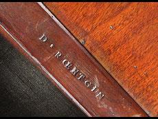 Detail images: Runder Gueridontisch mit der Signatur D. Roentgen gestempelt