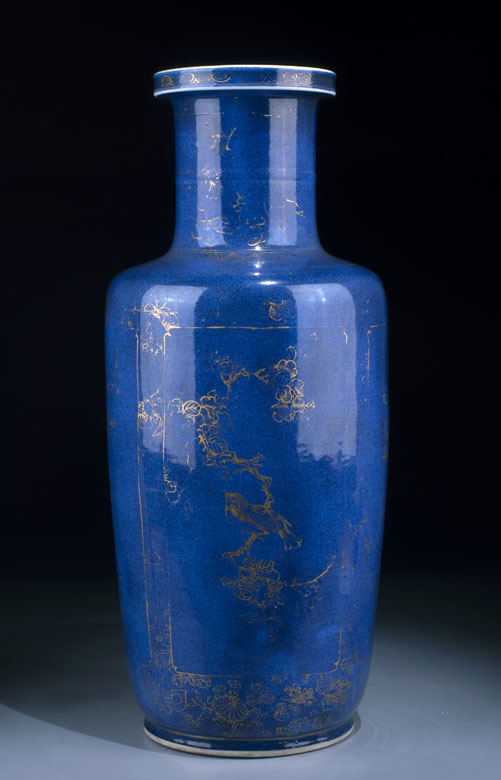 Powder-blue Rouleau-Vase