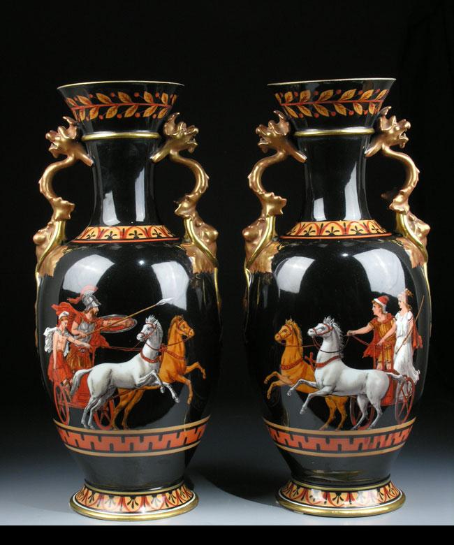 Paar Ginori-Vasen