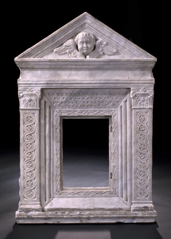 Italienische Marmor-Ädikula 16. Jahrhundert