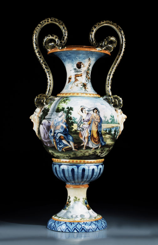 Italienische Majolika-Vase