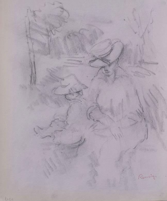 Pierre-Auguste Renoir, 1841 Limoges - 1919 Cagnes, bedeutender französischer Maler des Impressionismus