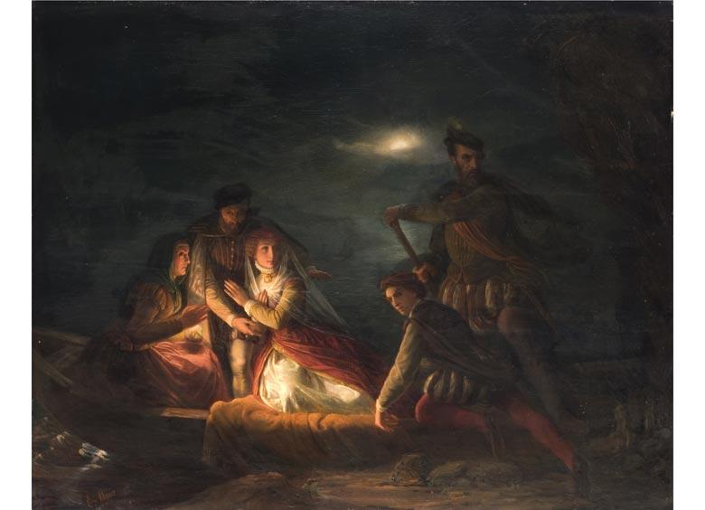 Clemens Bewer, 1820 Aachen - 1884 Bonn, Maler der Düsseldorfer Malschule