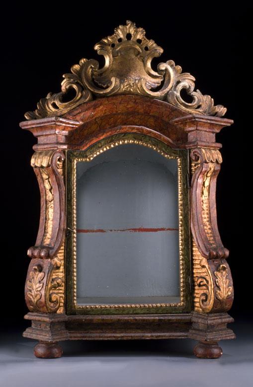 Kleiner barocker Reliquienschrein des 18. Jahrhunderts