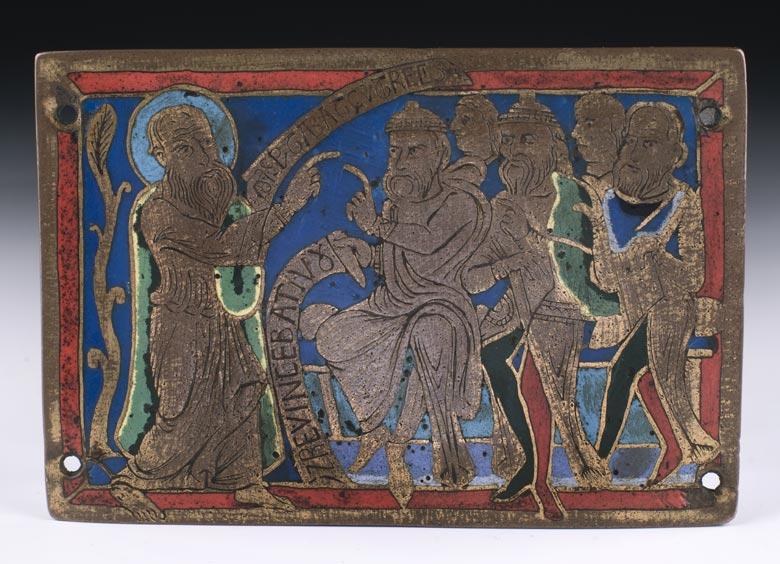 Seltene Emailbildplatte des 12. Jahrhunderts