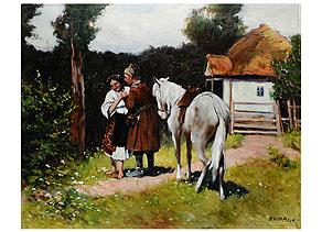 Detail images:  Khol Bakov, Russischer Maler des 19./20. Jahrhunderts