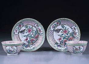 Detail images:  Paar chinesische Koppchen mit Untertellern