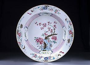 Detail images:  Große Famille-rose Platte