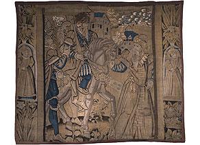 Detail images:  Gobelin des späten 16. Jahrhunderts