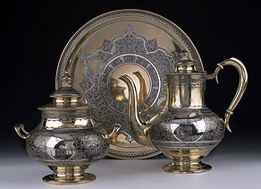 Detail images:  Russisches Silberservice