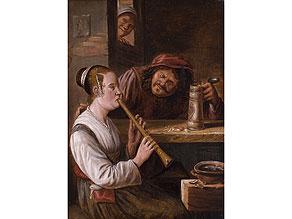 Detail images:  Niederländischer Maler des 17./18. Jahrhunderts in der Stilnachfolge von Teniers