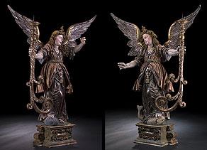 Detail images:  Leuchterengelpaar von Jörg Zürn, 1583 - 1638