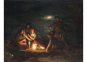 Detail images:  Clemens Bewer, 1820 Aachen - 1884 Bonn, Maler der Düsseldorfer Malschule