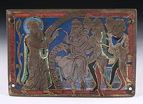 Detail images:  Seltene Emailbildplatte des 12. Jahrhunderts