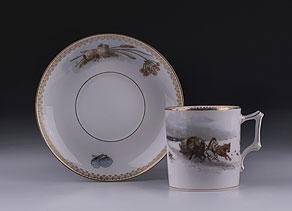 Detail images:  Tasse mit Untertasse der Manufaktur der Gebrüder Kornillow