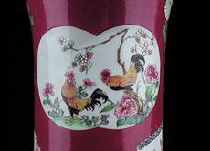 Detail images: Herrschaftliche Famille-rose Stangenvase