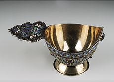 Detail images: Russischer Kovsch (feuervergoldetes Silbergefäß)