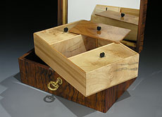 Detail images: Biedermeierliches Schmuckkästchen