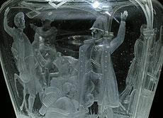 Detail images: Böhmischer Deckelpokal mit Szenen aus den Napoleonischen Kriegen