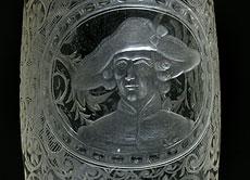 Detail images: Böhmisches Portraitglas mit Darstellung Friedrich II. von Preußen