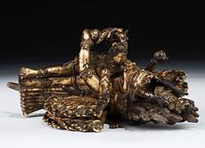 Detail images: Tibetanische Bronzefigurengruppe: Vajrabhairava