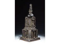 Detail images: Seltene burmesische Stupa