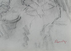 Detail images: Pierre-Auguste Renoir, 1841 Limoges - 1919 Cagnes, bedeutender französischer Maler des Impressionismus