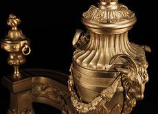Detail images: Paar Louis XVI-Kaminböcke
