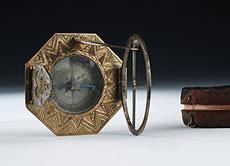 Detail images: Kompass-Sonnenuhr des 18. Jahrhunderts