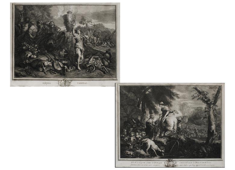Paar Kupferstiche des 18. Jahrhunderts