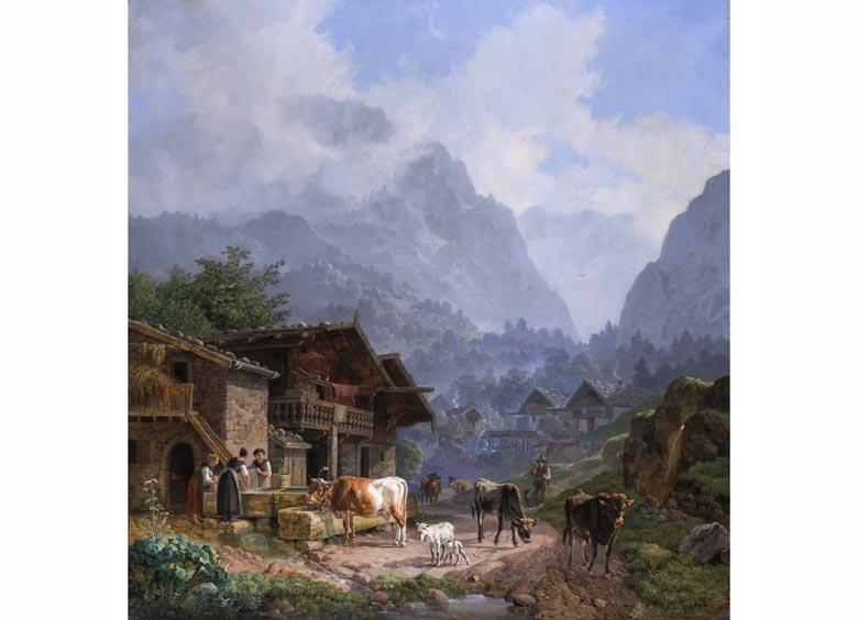Heinrich Bürkel, 1802 Pirmasens - 1869 München, Bedeutender Maler der Münchner Schule
