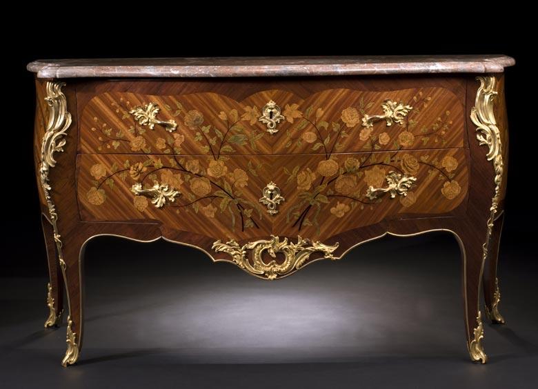 Bedeutende französische Louis XV-Kommode um 1755, signiert von Christophe Wolff