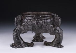 Detail images:  Italienisches Bronze-Tintenfass