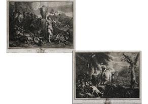 Detailabbildung:  Paar Kupferstiche des 18. Jahrhunderts