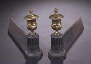 Detail images:  Paar englische Kaminböcke