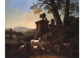 Philipp Peter Roos, Rosa da Tivoli, 1655/ 1657 Frankfurt am Main - 1706 Rom, zug.
