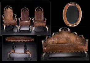 Detail images:  Sitzgarnitur eines Jagdschlosses