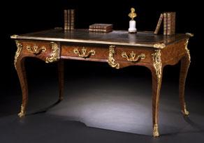 Detail images:  Französisches Louis XV-Bureau-Plat