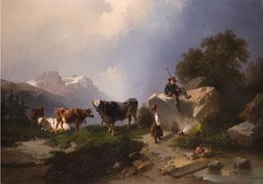 Detail images:  Carl Triebel, 1823 Dessau - 1885 Wernigerode