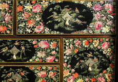 Detail images: Holländisches Chinoiserie-Lackkabinett