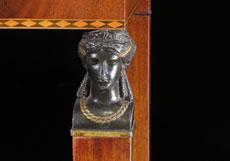 Detail images: Empire-Konsoltisch mit weißer Marmorplatte