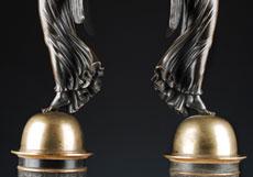 Detail images: Paar figürlich gestaltete Empire-Tischkandelaber